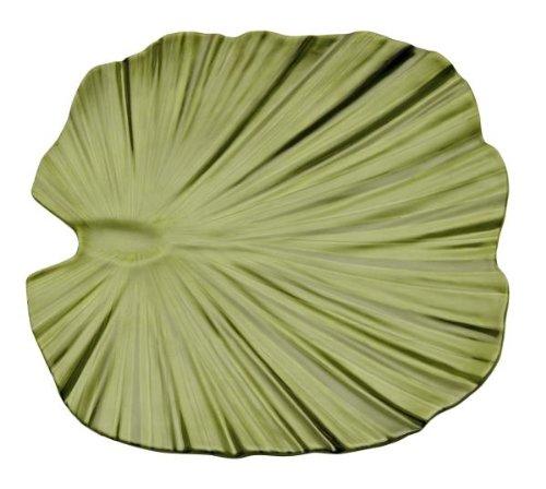 APS Palmblattschale -NATURAL- :  env. 27 x 27 x 4,5 cm mélamine vert 1A original mélamine qualité, passe au lave-vaisselle non-compatible micro-ondes