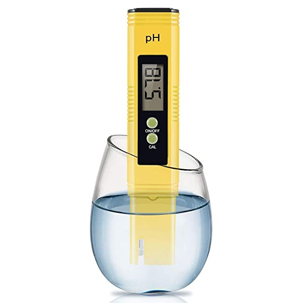 Digital PH Meter, 0.01 PH High Accuracy Water Quality Tester with 0-14 PH Measurement Range for Household Drinking, Pool and Aquarium Water PH Tester