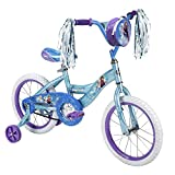Disney Frozen 14 Bicycle with Training Wheels, Handlebar Bag, & Streamers