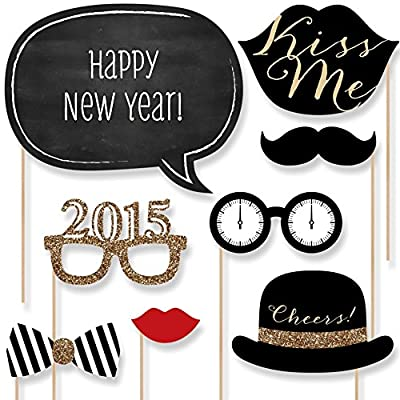 New Years Eve Party - Photo Booth Props Kit - 20 Count by Big Dot of Happiness, LLC