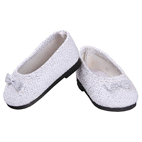 Toy Doll Clothes - Silver Glitter Dress Shoes - 1