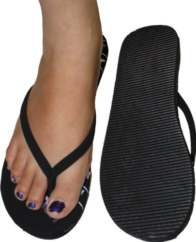 Womens Flip Flop Hollywood Print With Soft Padded Footbed , Comportable Fit front-10536