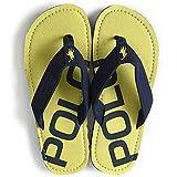 POLO RALPH LAUREN THEO LOGO/ポロ ラルフローレン ビーチサンダル テオ ロゴ/ネイビー×イエロー [並行輸入品] ランキングお取り寄せ
