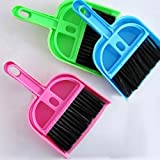 Generic Mini Dustpan &Brush Desk Table Top Keyboard Netbook Handy Cleaner Whisk(ramdon color)