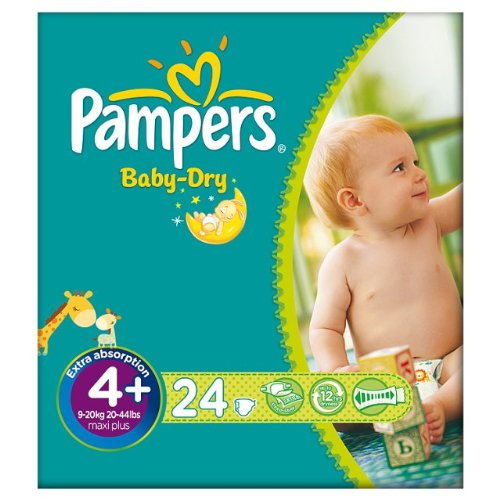 Pampers Baby Dry taille 4 + (9-20kg) Carry 6x24