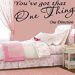 "YOU'VE GOT THAT ONE THING ~ ONE DIRECTION: WALL DECAL, Size: 8"" X 22"" by Best Priced Decals"
