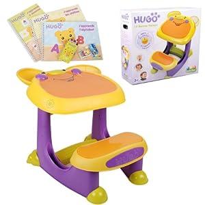 bureau table plastique hugo 19 bureau pupitre bebe et enfant parlant et sonore educatif avec. Black Bedroom Furniture Sets. Home Design Ideas