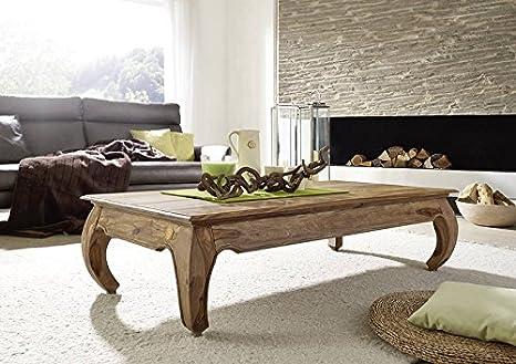 Sheesham braun hell Massivmöbel Couchtisch 160x80 Palisander Holz massiv Möbel Opium #634