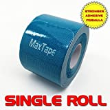Kinesiology Tape MaxTape Elastic Tape for Athletes - Therapeutic Sports Tape for Injury & Performance - For Knee, Shoulder, Elbow, Ankle, Back, Neck Pain - Superior Waterproof Technology and Adhesion - Latex Free - (Choose Color Below)