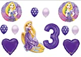 Tangled Rapunzel Disney 3rd BIRTHDAY PARTY Balloons Decorations Supplies