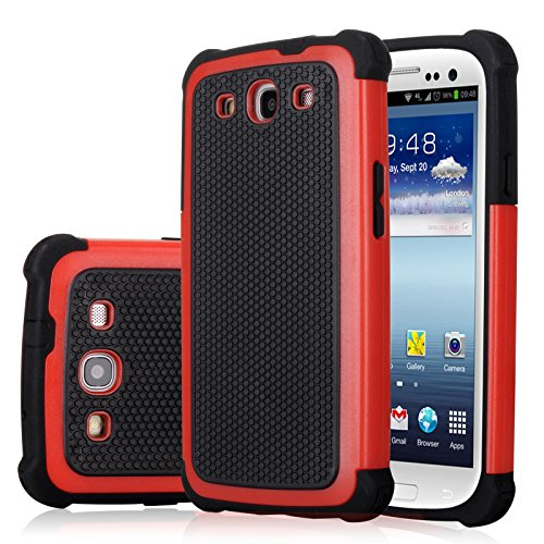 Galaxy S3 Case, Jeylly(TM) [Shock Proof] Scratch Absorbing Hybrid Rubber Plastic Impact Defender Rugged Slim Hard Case Cover Shell For Samsung Galaxy S3 S III I9300 GS3 All Carriers (Samsung Galaxy S3 Case Jelly compare prices)
