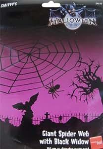 Spinne im Spinnennetz Netz Halloween Deko Spinnen 150 cm