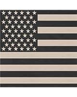 """Subdued Khaki & Black US Flag Bandana 22"""" x 22"""""""