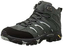 Merrell Men\'s Moab Mid Waterproof Hiking Boot, Sedona Sage, 10.5 M US