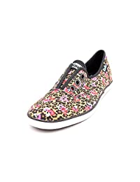 Keds Rookie Laceless Womens Size 5 Multi-Colored Canvas Sneakers Shoes UK 2.5