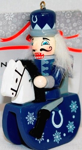 Indianapolis Colts NFL Wooden Nutcracker Rocking Horse Ornament at Amazon.com