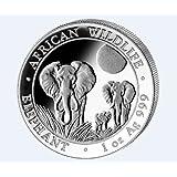 2014 1 oz Silver Somalian African Elephant