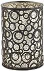 Bettina Circles Bronze Metal Pillar Candle Holder