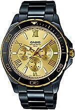 Casio Herren-Armbanduhr XL Collection Men Analog Quarz Edelstahl MTD-1075BK-9AVEF