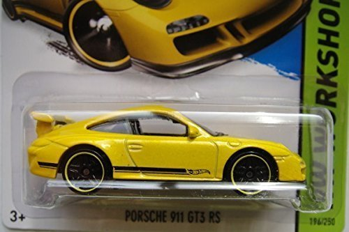 Hot Wheels, 2015 HW Workshop, Porsche 911 GT3 RS [Yellow] Die-Cast Vehicle #196/250 - 1