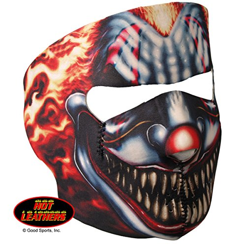Hot Leathers Bikers Full Protection SMOKING CLOWN NEOPRENE FACE MASK, with Velcro Back Closure (Hot Leathers Face Mask compare prices)