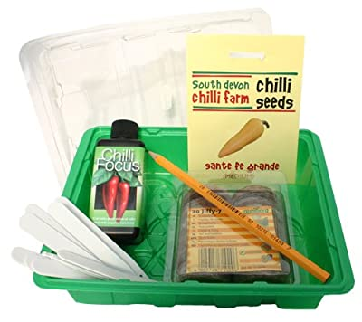 Chilli Growing Kit from the chilli experts at the South Devon Chilli Farm - all you need to grow chilli plants presented in a stunning gift box. ON OFFER NOW!