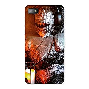 Premium Knight Warrior Multicolor Back Case Cover for Blackberry Z10