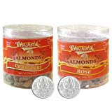 Chocholik Dry Fruits - Almonds Peri Peri & Almonds Rose With 5gm X 2 Pure Silver Coins - Diwali Gifts - 2 Combo...