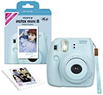 Fuji Instax Mini 8 N Blue + Original Strap Set Fujifilm Instax Mini 8N Instant Camera