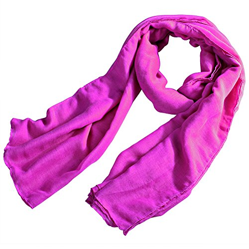 Insten® 180x110cm Sweet Candy Color Plain Scarf, Rose Pink