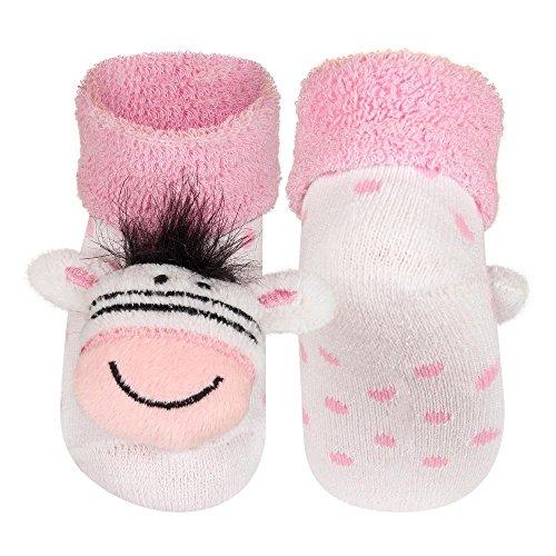 Gr.16-18 ZEBRA ROSA Socken Frottee mit Rassel