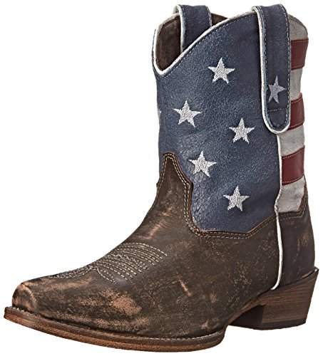 Roper Women's American Beauty Western Boot, Brown, 8 M US