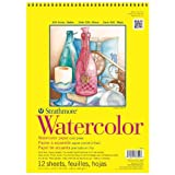 Strathmore 360110 Cold Press 140-Pound 12-Sheet Watercolor Paper Pad, 11 by 15-Inch