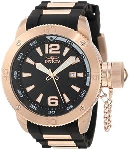 Invicta Men's 12965 I-Force Black Textured Dial Black Polyurethane Watch