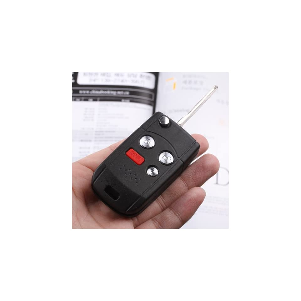 Flip Key Remote Fob CASE SHELL For Ford Escape Focus Taurus Escort Fusion Mustang Explorer Expedition Crown victoria Thunderbird Five Hundred 4 Buttons  Automotive Keyless Entry Remote Control Transmitter