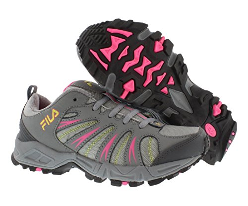 Fila Women's Trailbuster 2 Trail Running Shoe, Black/Atomic Blue/Pink Glo, 7.5 M US