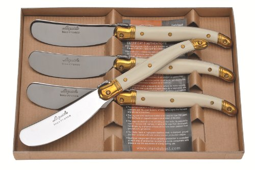 Jean Dubost Laguiole 4 Spreaders in Craft Box