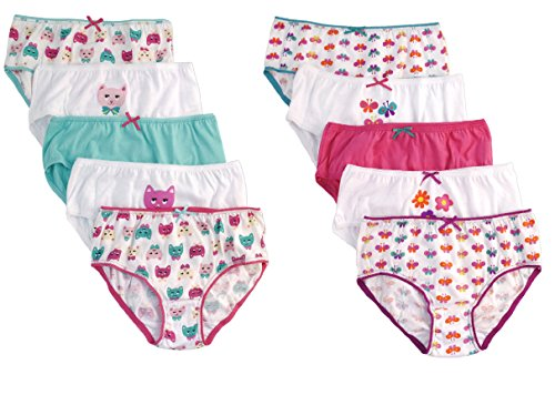 5-Pairs-Girls-Briefs-100-Cotton-Underwear-Pants-Age-2-8-Years
