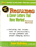 img - for Resumes & Cover Letters That Have Worked (Real-Resumes Series) book / textbook / text book