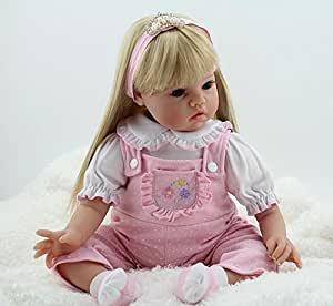 Amazon.com: NPK collection Reborn Baby Doll, Vinyl Silicone 22 inch 55