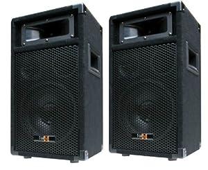 2x 400w dj party lautsprecher boxen paar 8 bass amazon. Black Bedroom Furniture Sets. Home Design Ideas