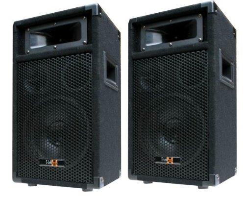 2x-400W-DJ-PARTY-LAUTSPRECHER-BOXEN-Paar-8-Bass-E-Lektron-PW20