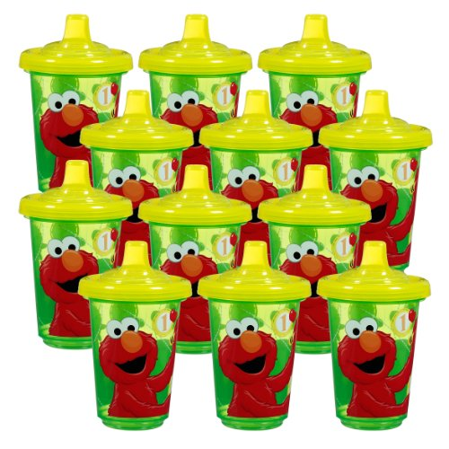 Munchkin Sesame Street Re-Usable Twist Tight Spill-Proof Cups, 10 Ounce, 12-Pack - 1