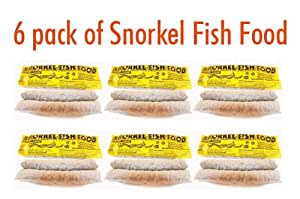 6 Pack of Scuba & Snorkel Fish Food -Nutritionally Balanced for Snorkeling and Scuba