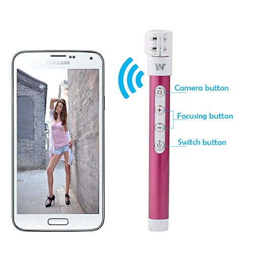 kootek extendable self portrait wireless bluetooth remote camera shooting sh. Black Bedroom Furniture Sets. Home Design Ideas