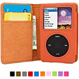 英国Snugg社 iPod Classic 用 手帳型 PUレザーケース - 生涯補償付き (オレンジ)