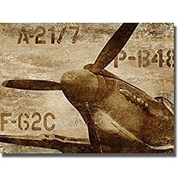 Artistic Home Gallery 2430563S Vintage Airplane By Dylan Mathews Premium Stretched Canvas Wall Art