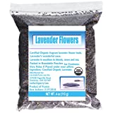 LavenderLove French Lavender Flowers USDA Organic Dried Lavender 4oz (Culinary Grade)