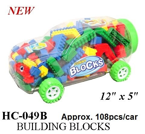 Lego Like Building Blocks in a Plastic Car - 1