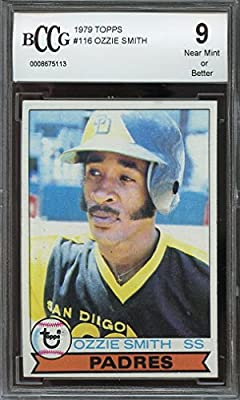1979 topps #116 OZZIE SMITH san diego padres rookie card BGS BCCG 9 Graded Card